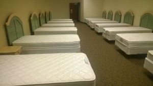 Beds for personnel in case of emergency